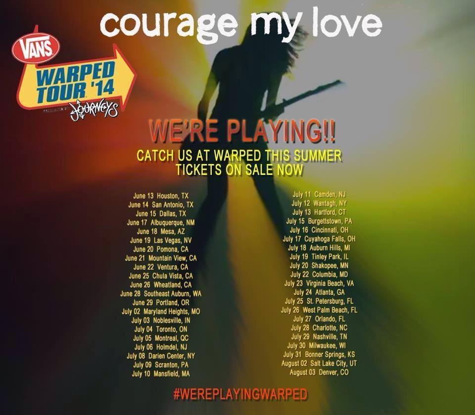 courage my love warped tour