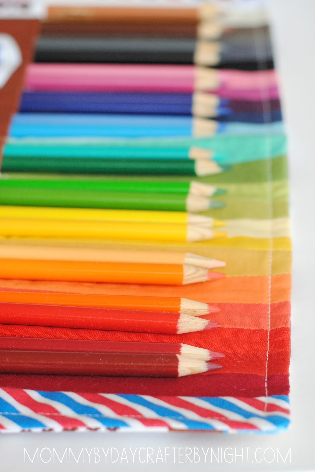 Rainbow Colored Pencil Case
