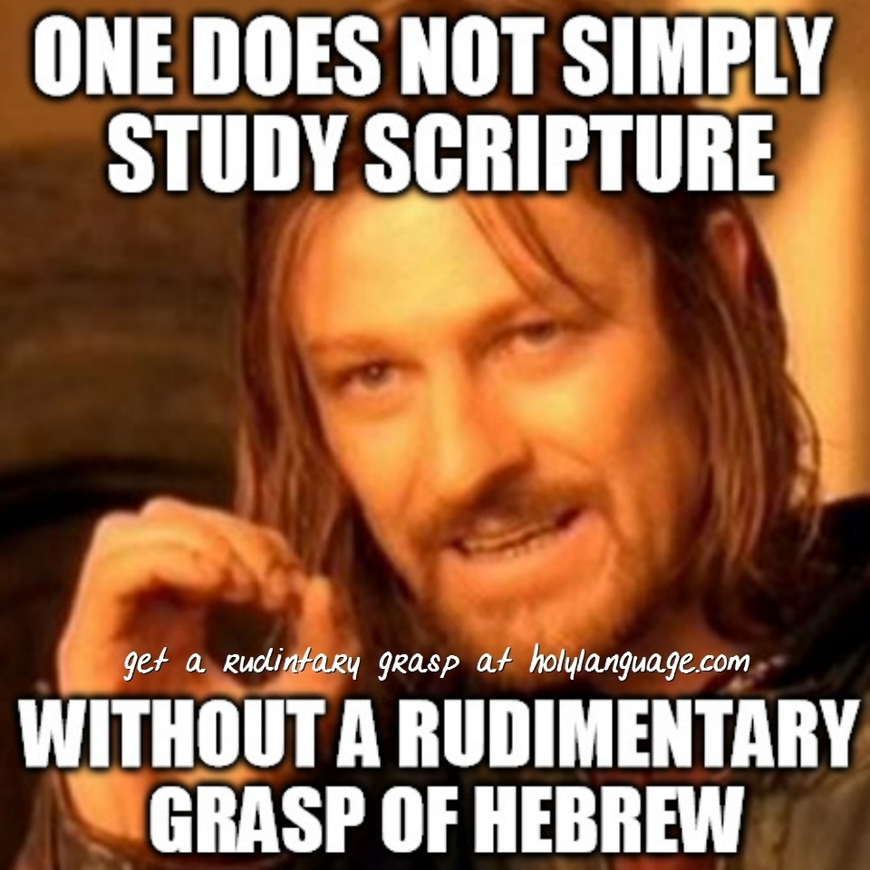 rudimentary grasp of hebrew