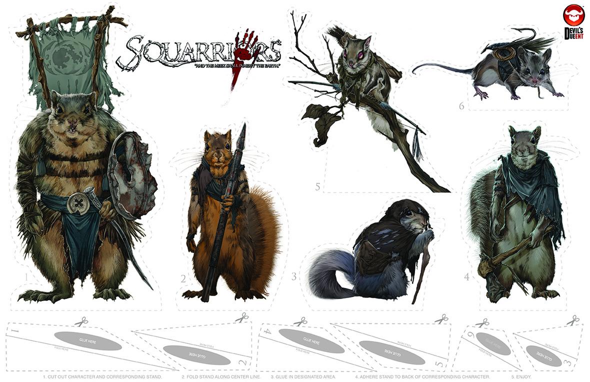 squarriors cutout print