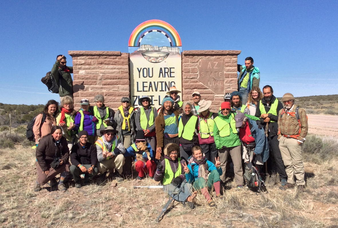 Group photo entering Zuni lands