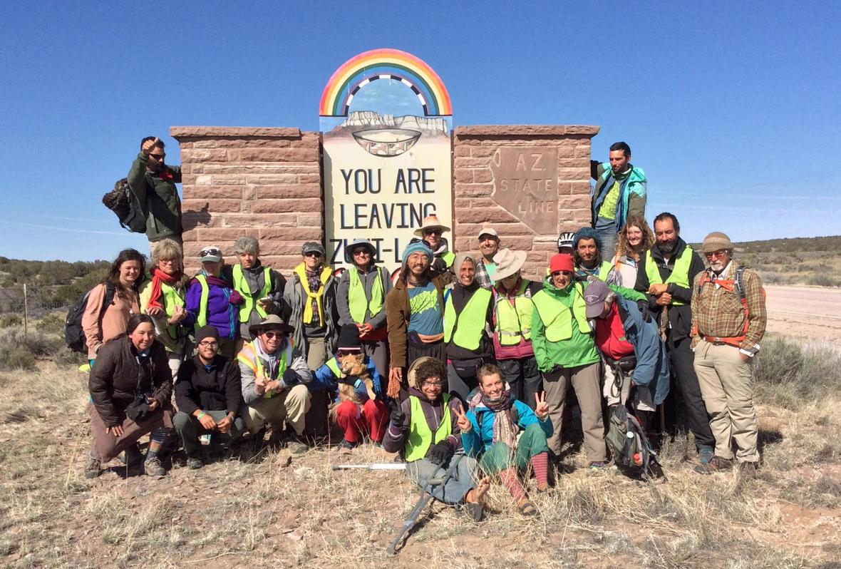Group photo entering Zuni lands