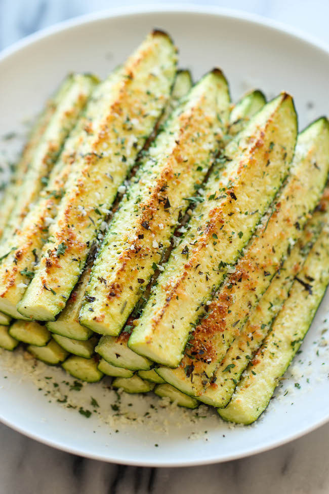 Lean And Green Baked Parmesan Zucchini