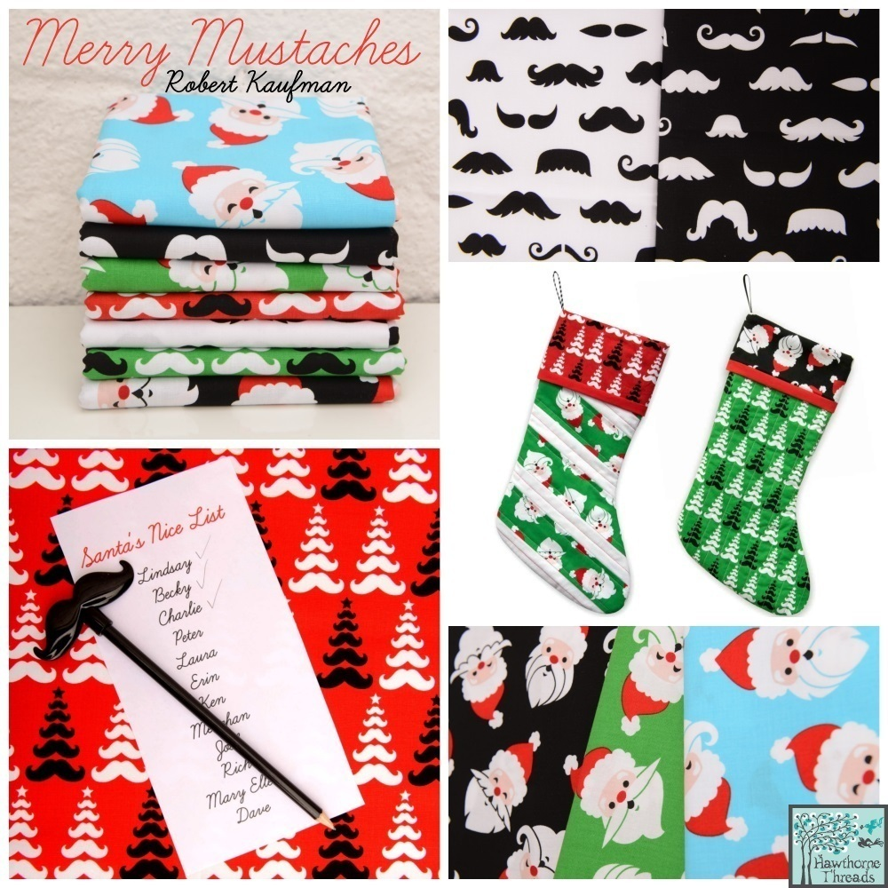 Merry Mustaches Poster