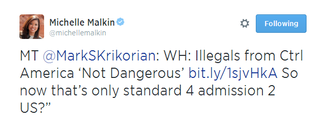Michelle Malkin Tweet 070814 06