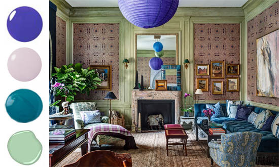 Purple Green Alexa Hampton Interior Decor Kips Bay