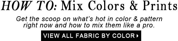 How To Mix Color and Pattern