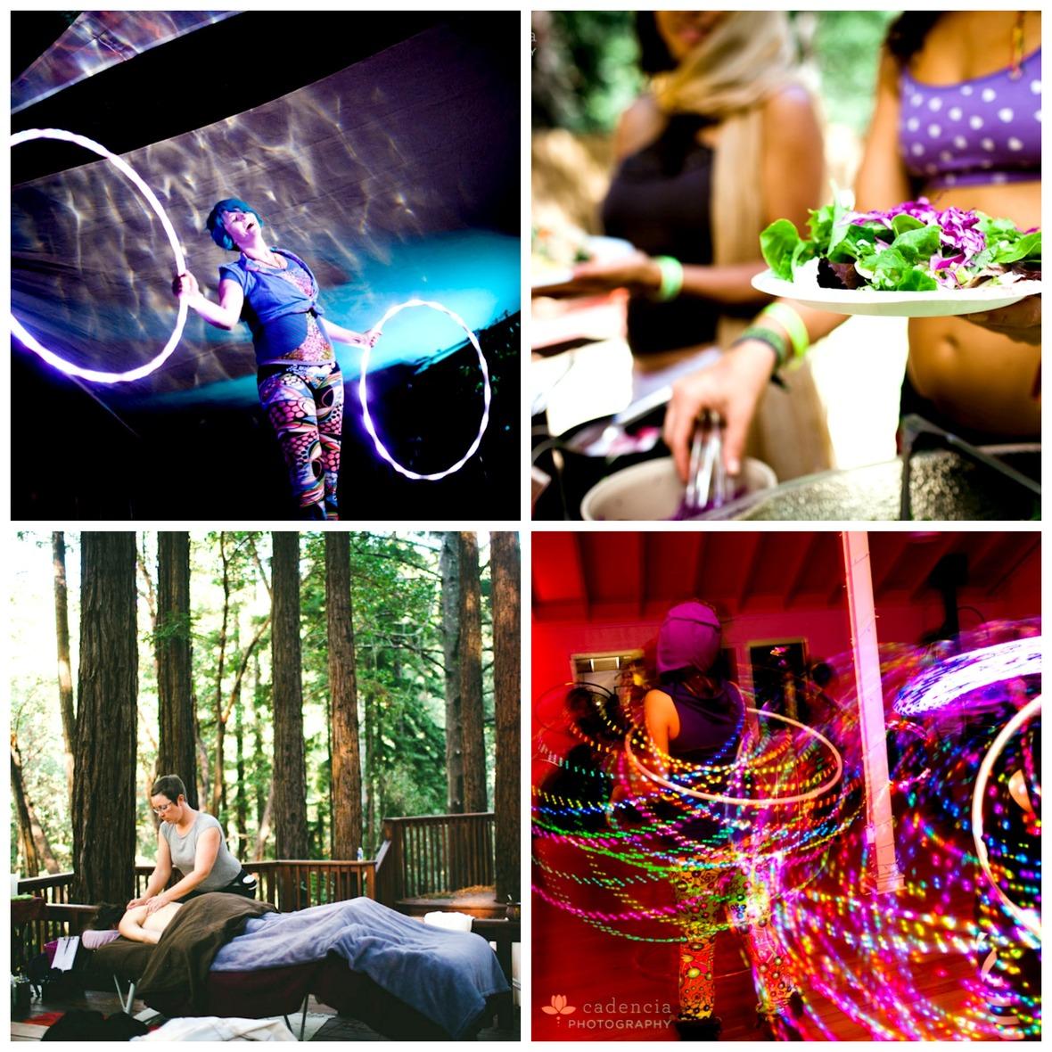 Collage- Performance  Massage  Food