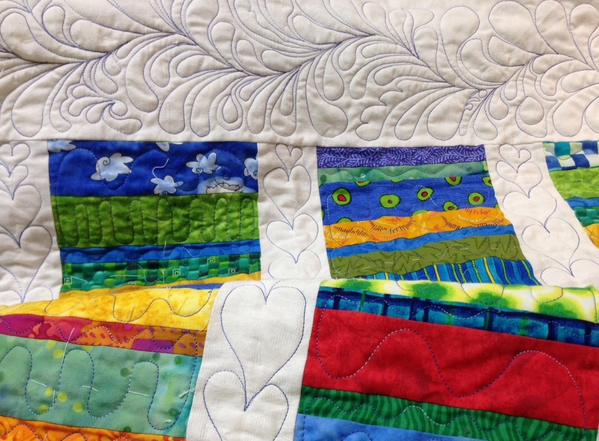Borders quilted
