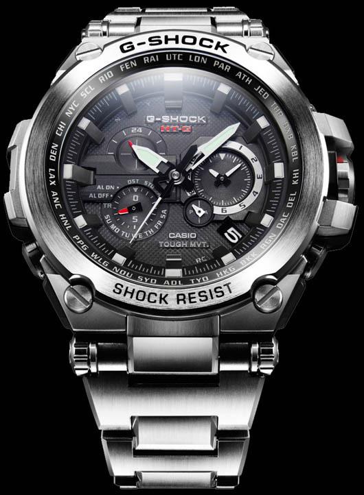 Casio GShock MTG silver frontblack