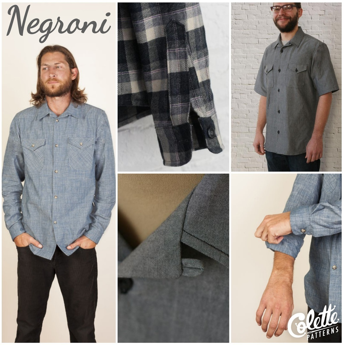 colette patterns negroni shirt sewing pattern