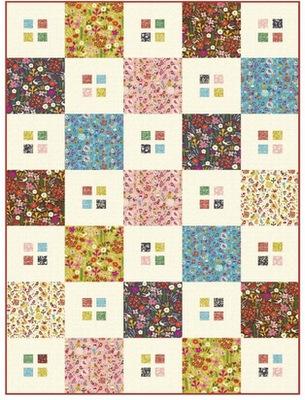 Petite Fleur checkers quilt pattern