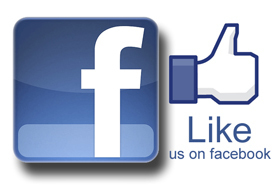 Like us on acebook
