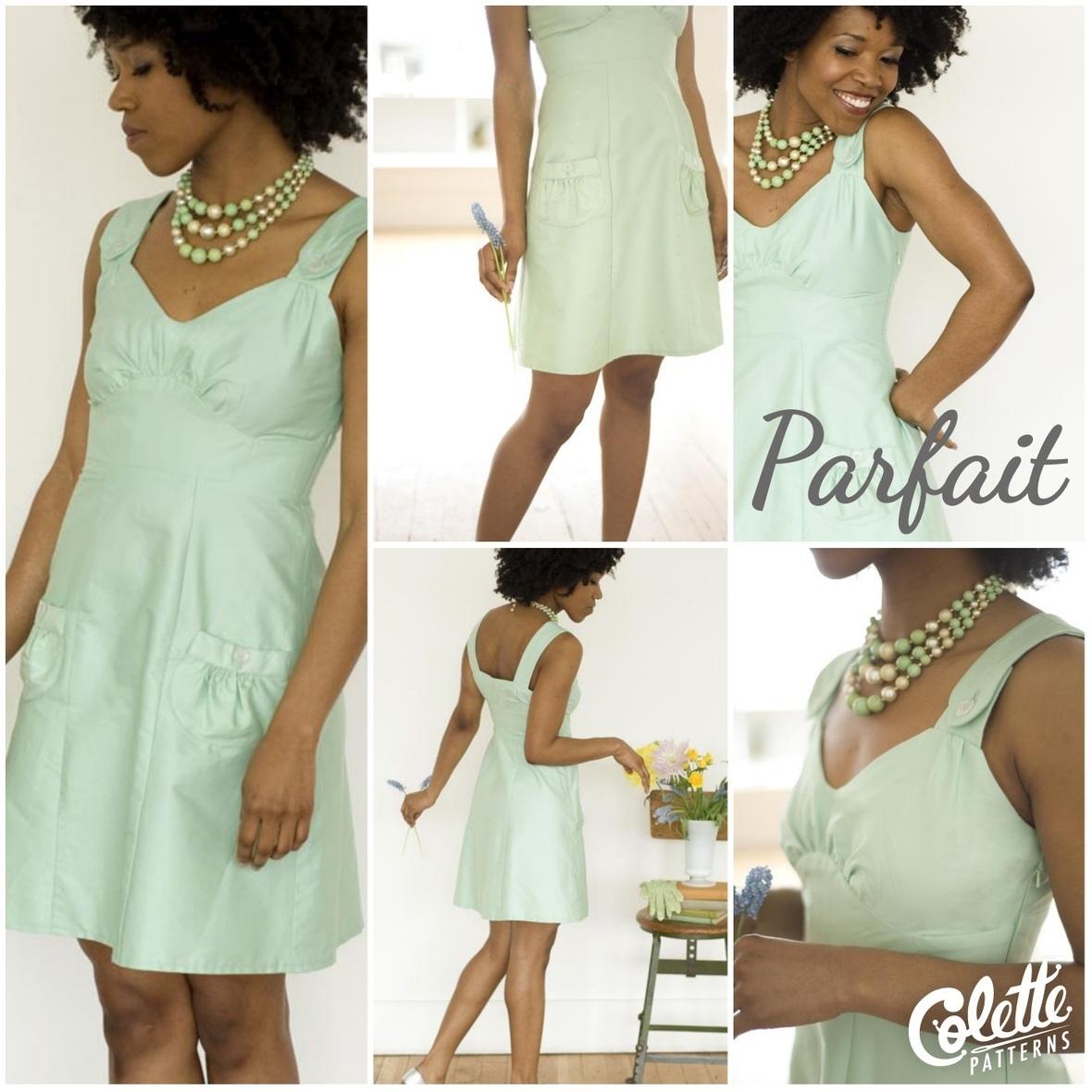 colette patterns parfait dress sewing pattern