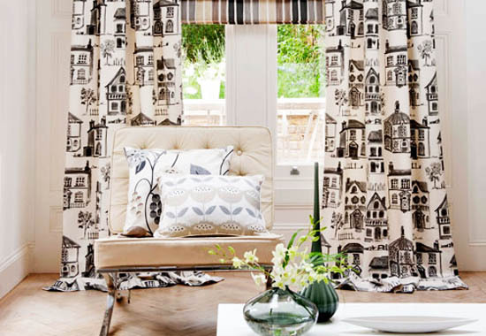 Gallery For > Modern Toile Decor