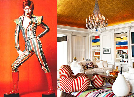 David Bowie Glam Rock Interior Decor