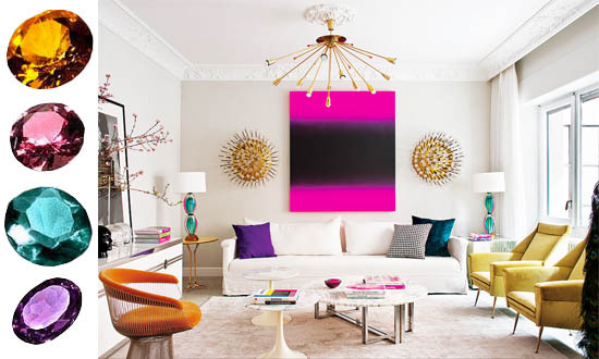 Jewel Tones Interior Decor