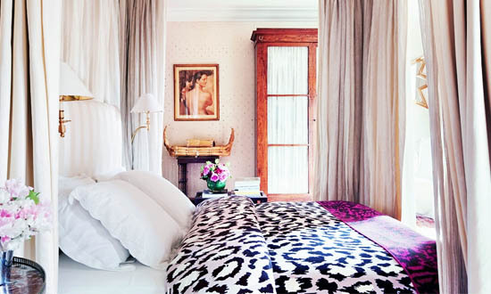 Animal Print Glamorous Bedroom Interior Decor