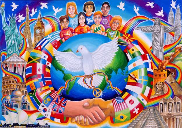 peace world large