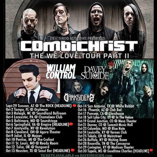 davey suicide combichrist tour updated