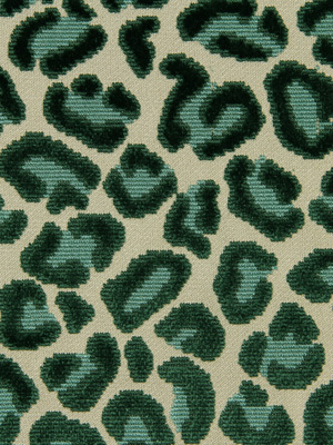 Cheetah Velvet - Emerald
