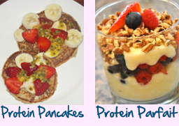 protein pancakes parfait2