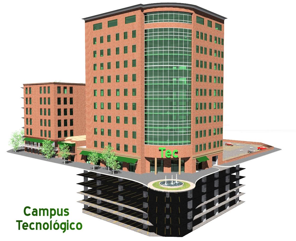 Vista Edificio ONCE niveles