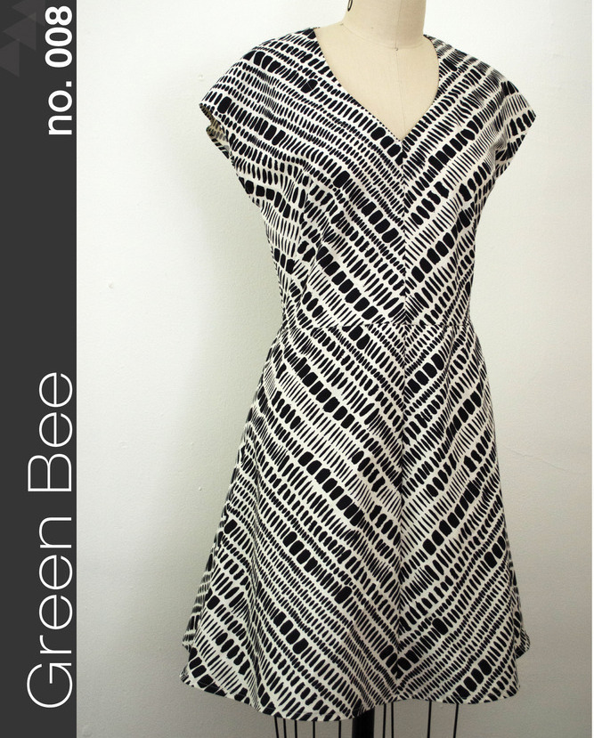 green bee design amelia dress sewing pattern