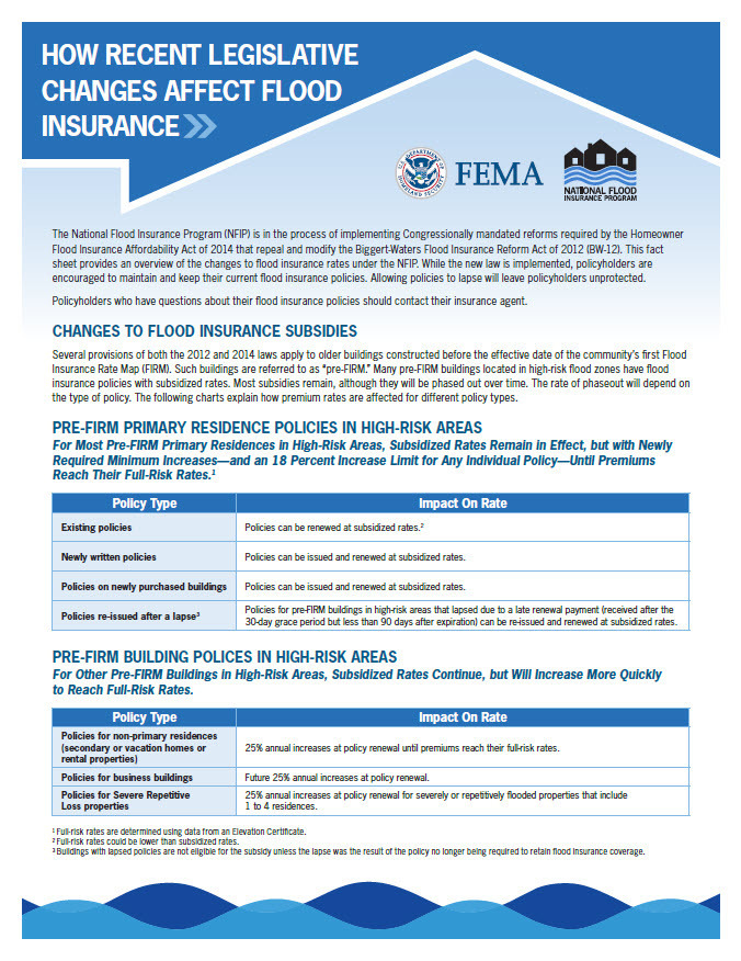 fema fact sheet