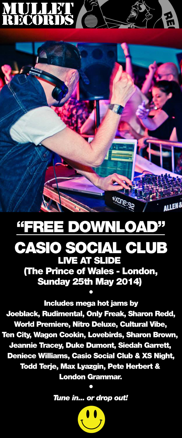 Mullet Records - free download Casio Social club live