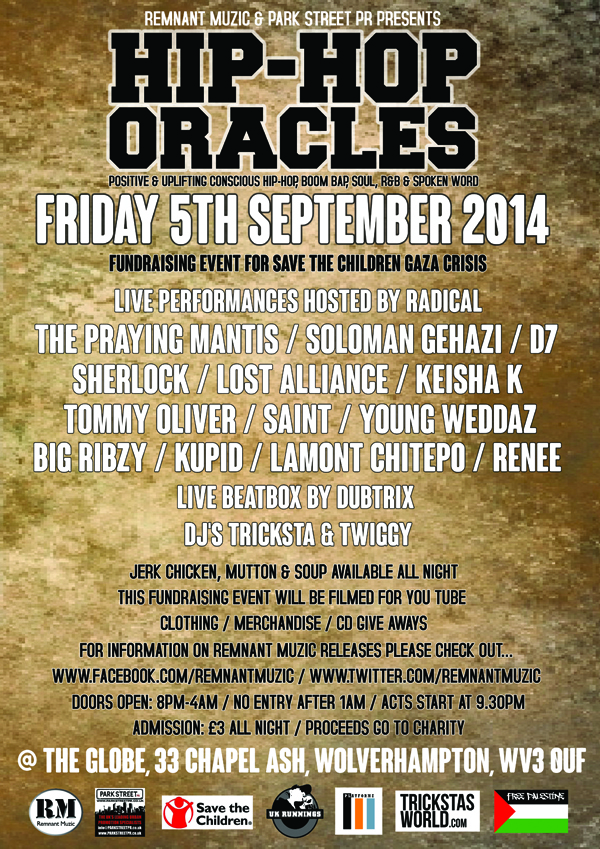 BRITHOPTV: [News/Event] Remnant Muzic & Park Street PR Presents  Hip-Hop Oracles, Friday September 5, Th Globe ,33 Chapel Ash, Wolverhampton, WV3 0UF | #UKRap #UKHipHop