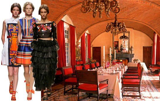 Spanish Style Hacienda Decor and Fashion Runway