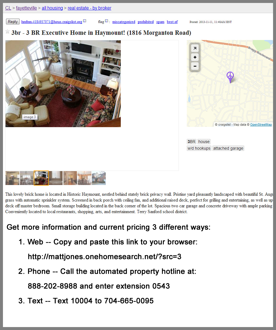 Real estate news and information in silicon valley for Craigslist real estate ad templates