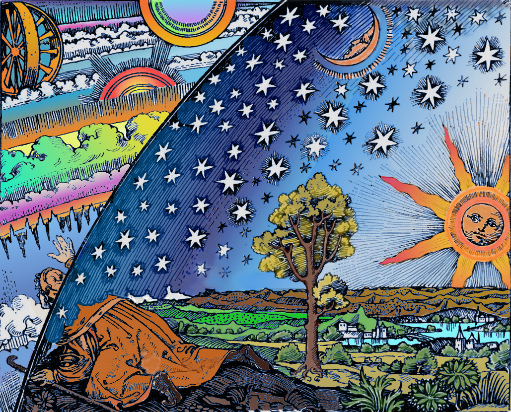 Flammarion Woodcut 1888 Color 2