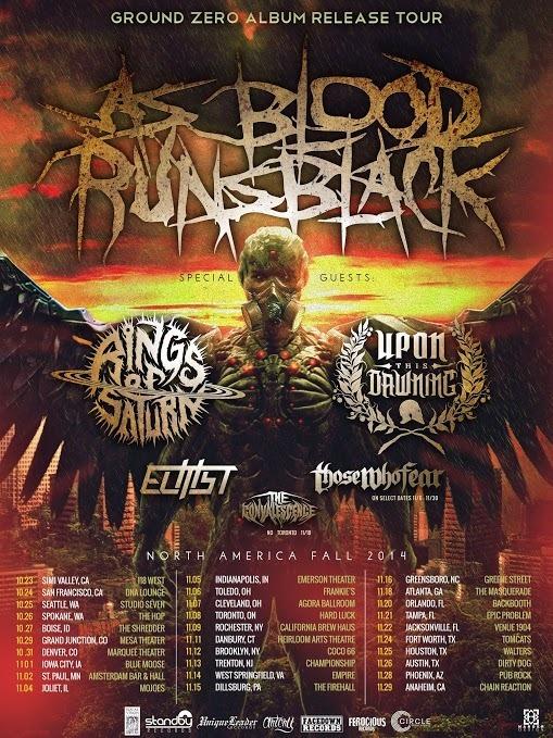 as blood runs black album release tour