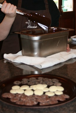 Tempering Chocolate at Le Salon Du Chocolat