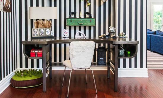 Striped Wallpaper Interior Decor