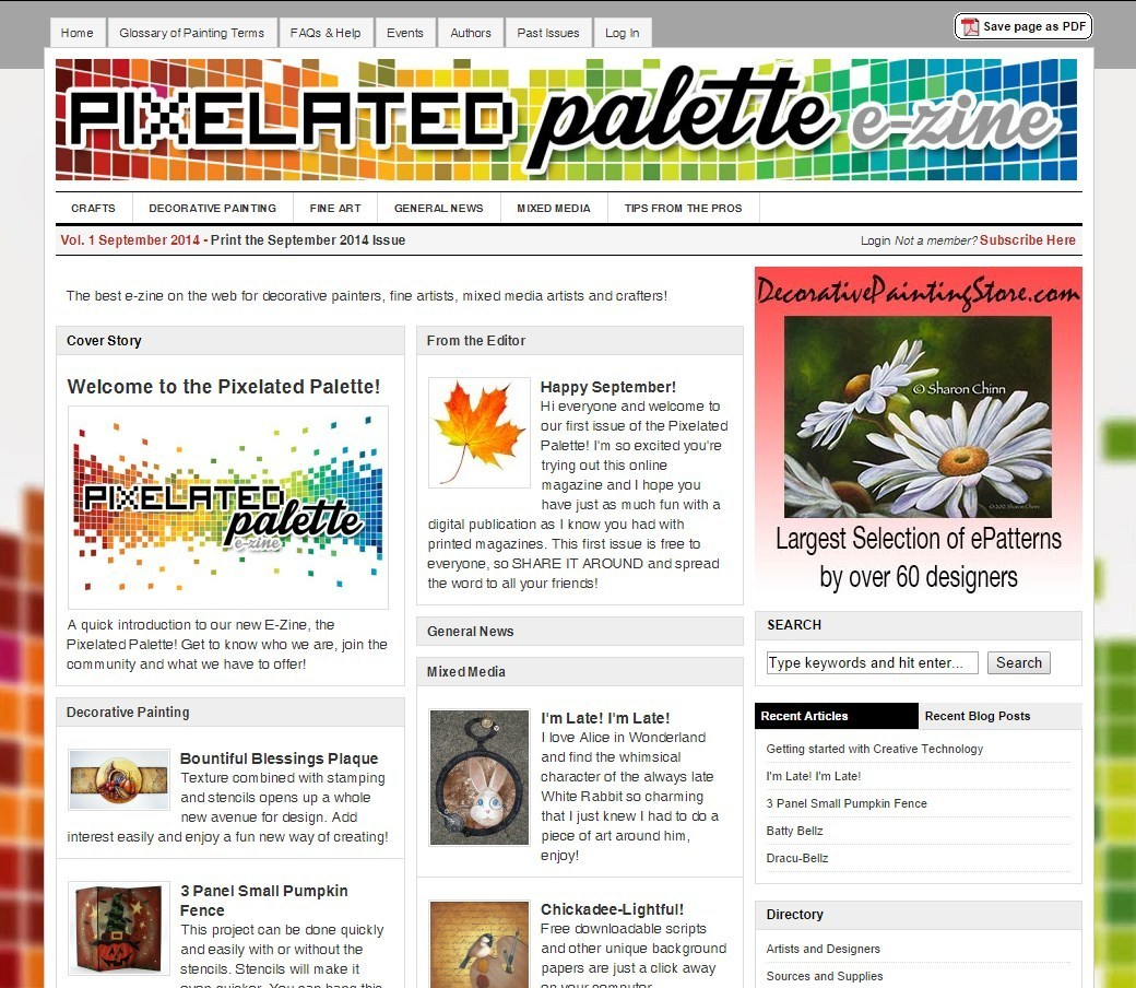 Miss Your Painting Magazines? Join the Pixelated Palette E-Zine with