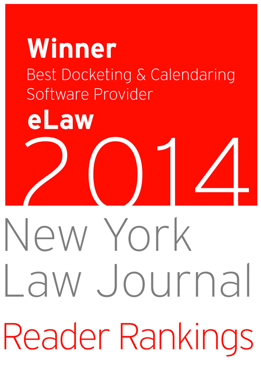 NYLJ eLaw 2014 Best Docketing Calendaring Software color vertical
