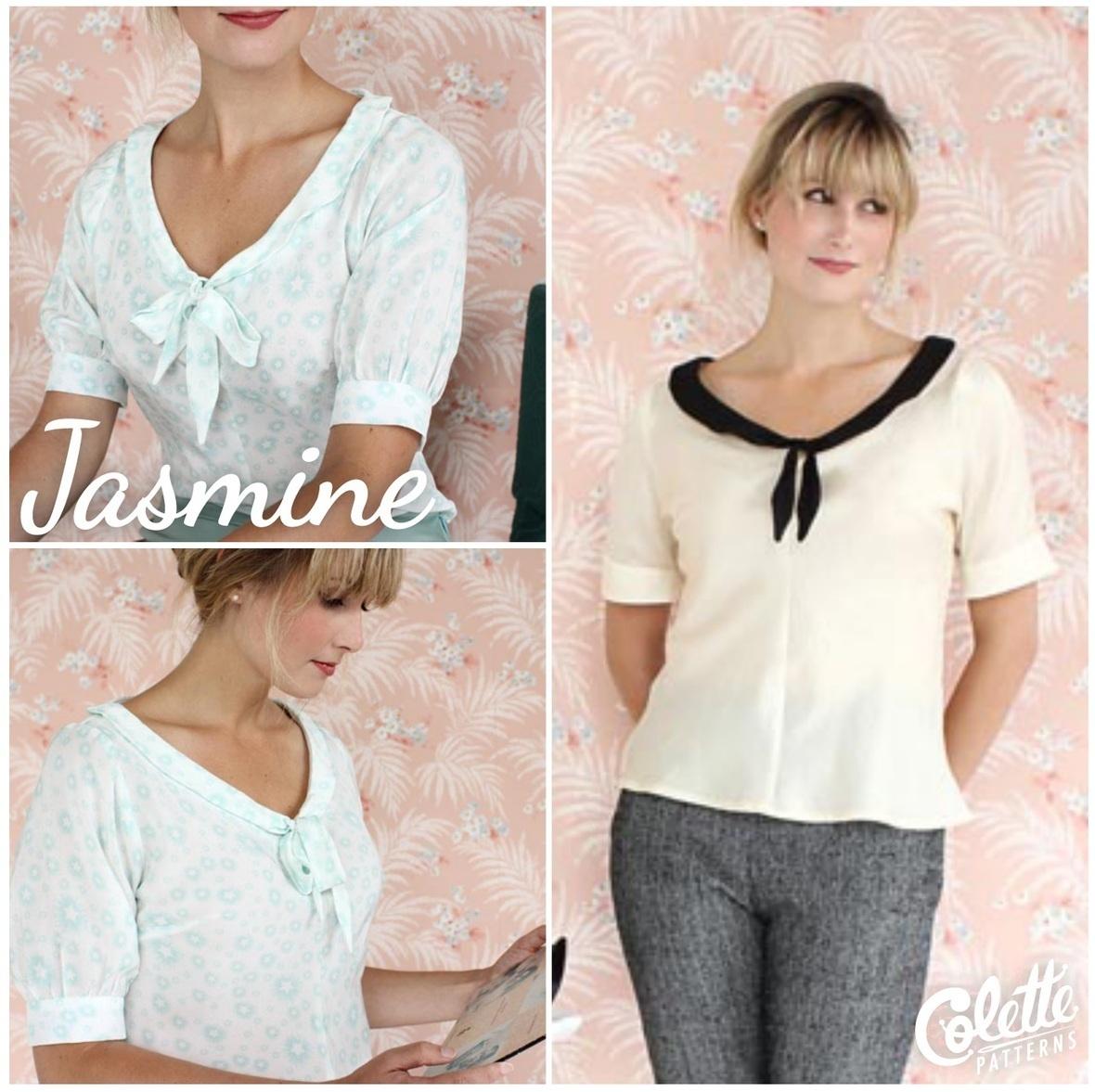 colette patterns jasmine blouse sewing pattern