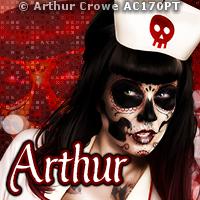 Arthur Painted Skull AV  14