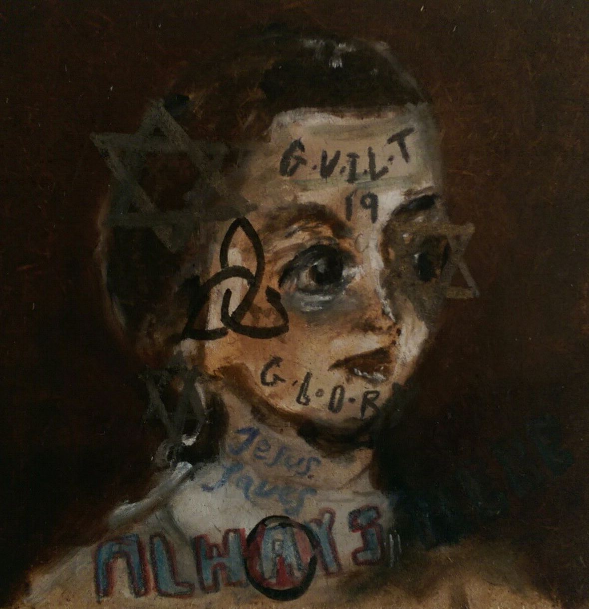 Jackson  Sam  Guilt and Glory  Always Here    2014 Oil on board 12x12cm