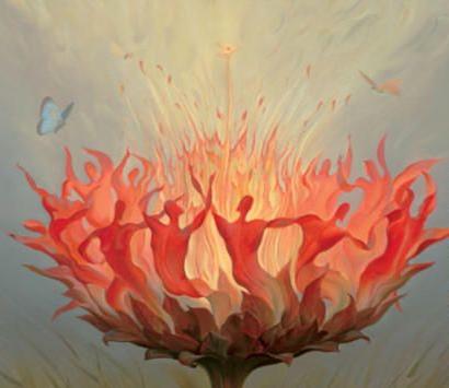 Fiery Dance by Vladimir Kush