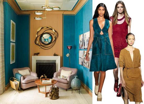 Suede New York Fashion Week Trend Interior Decor