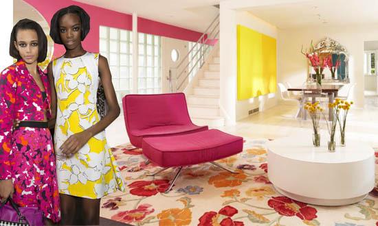 Huge Florals New York Fashion Week Trend Interior Decor