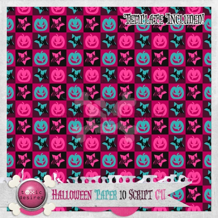 ToxicDesirez-HalloweenPaper10-Script-Preview-700x700