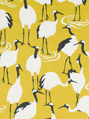 Winter Crane - Golden Rod