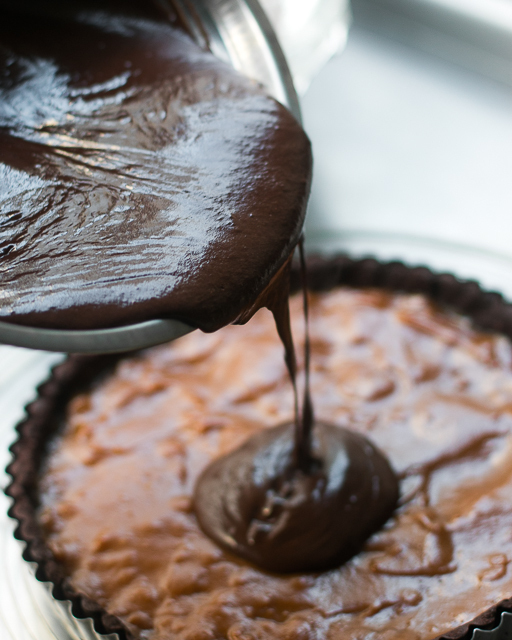 chocolate dulce de leche tart recipe-2