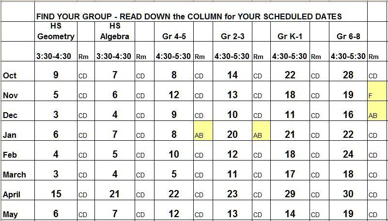 Work Group Schedule
