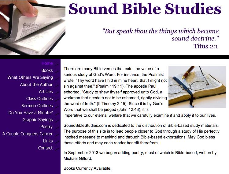 Sound Bible Studies
